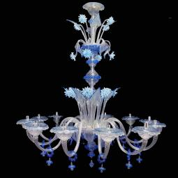 """Griselda"" Murano glass chandelier - 12 lights"