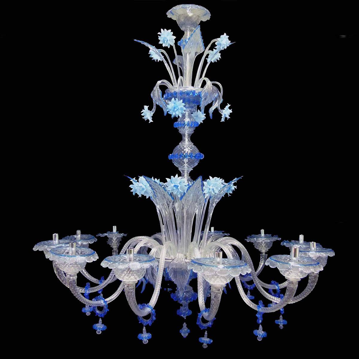 """""""Griselda"""" lustre en cristal de Murano - 12 lumières"""