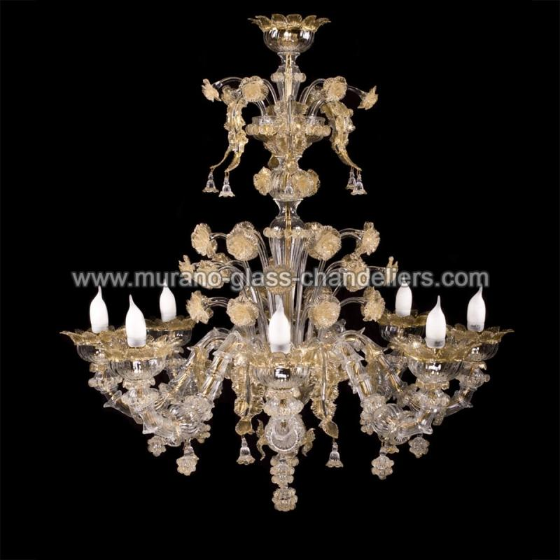 maria lustre en cristal de murano murano glass chandeliers. Black Bedroom Furniture Sets. Home Design Ideas