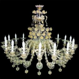 """Maria"" large Murano glass chandelier - 18 lights"