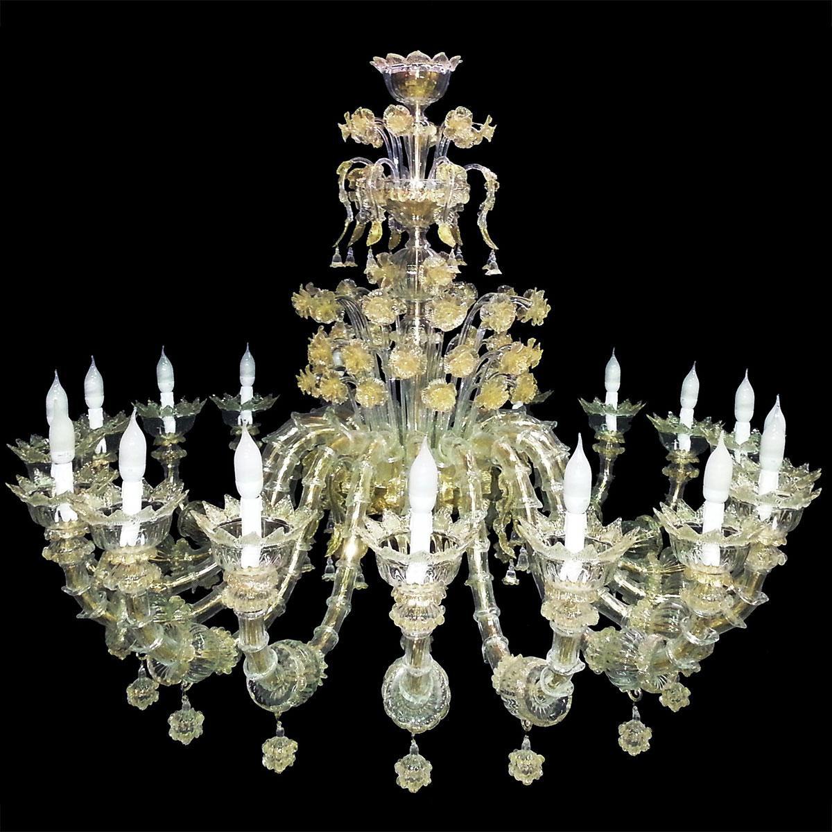 """""""Maria"""" grand lustre Murano - 18 lumières"""