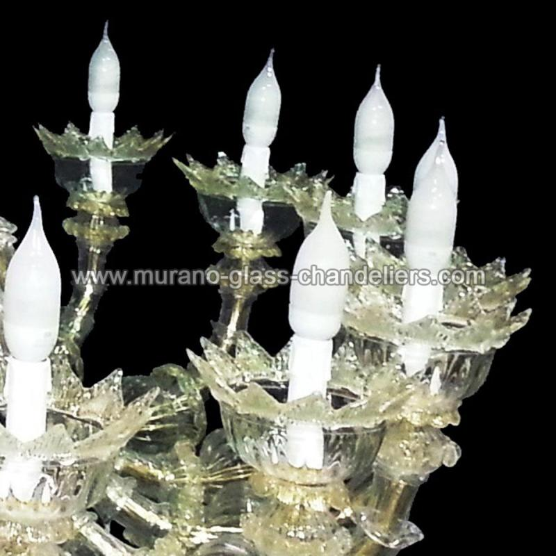 "Murano Glass Chandelier Large: ""Maria"" Large Murano Glass Chandelier"
