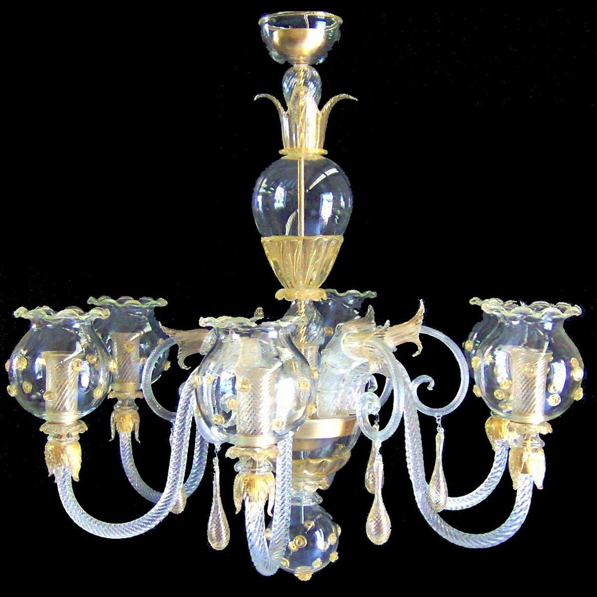 """""""Gloria"""" lampara de araña de Murano - 6 luces"""