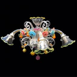 """Locandiera"" Murano glass ceiling light - 5 lights"