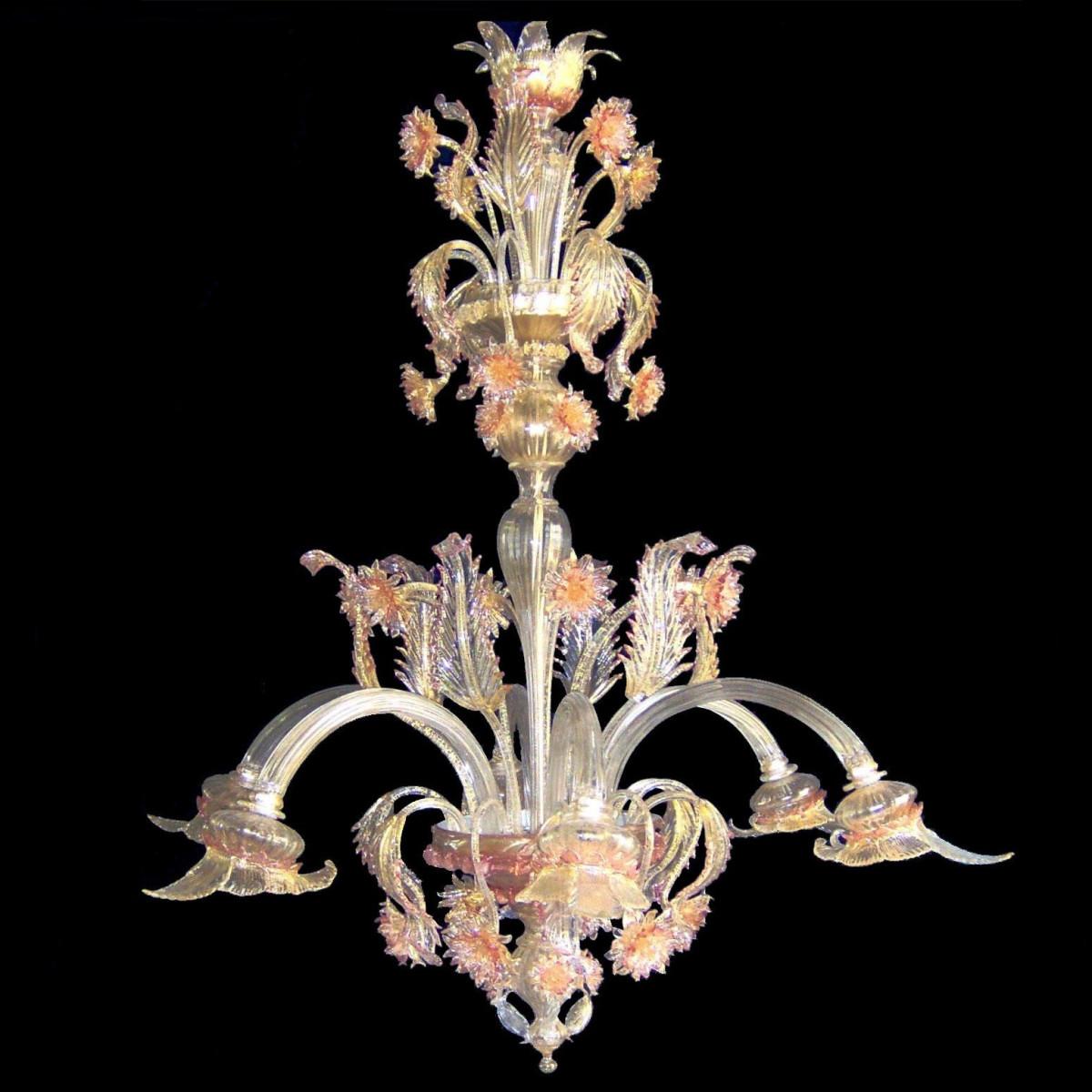 """Gisella"" Murano glass chandelier - 6 lights"