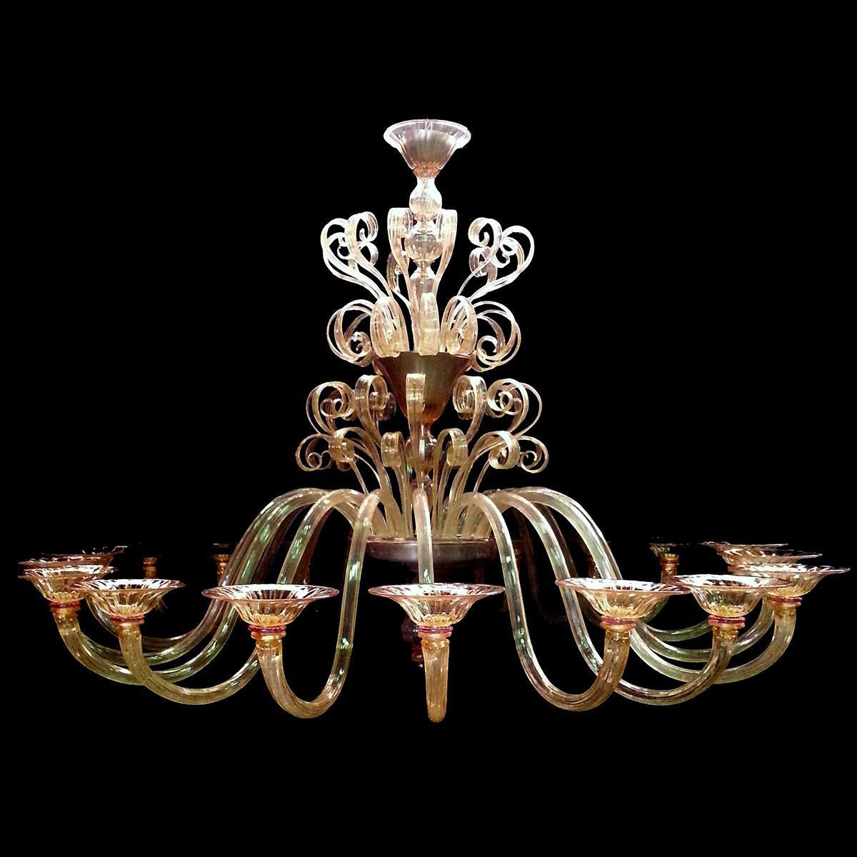 """""""Gabriella"""" lampara de araña de Murano - 18 luces -"""