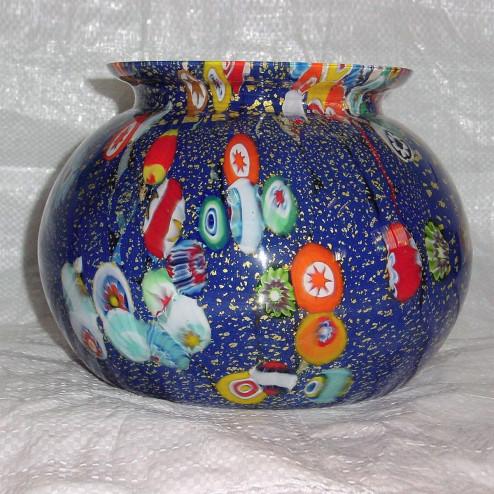 """""""Pablo"""" Murano vase - Standaard - blau und vielfarbig"""