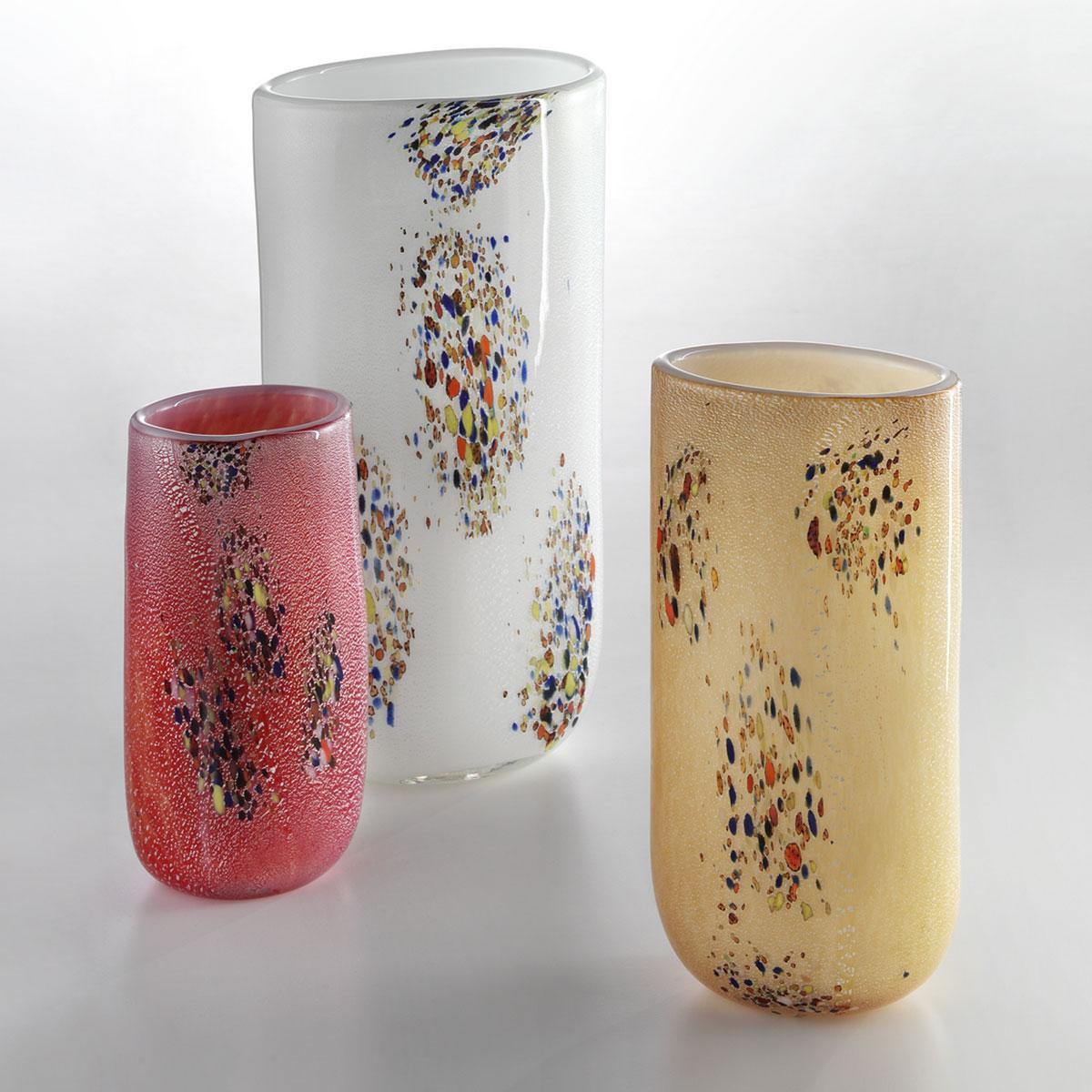 """""""Wilson"""" vase en verre de Murano - couleur, argent et polychrome"""