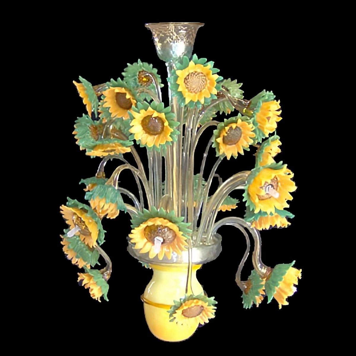 Girasoli (girasol) Araña de cristal de Murano 9 luces