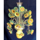 Girasoli (sunflowers) 9 lights Murano glass chandelier