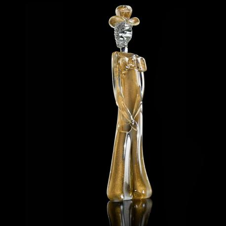 """Cavaliere"" Murano glass sculpture - gold"
