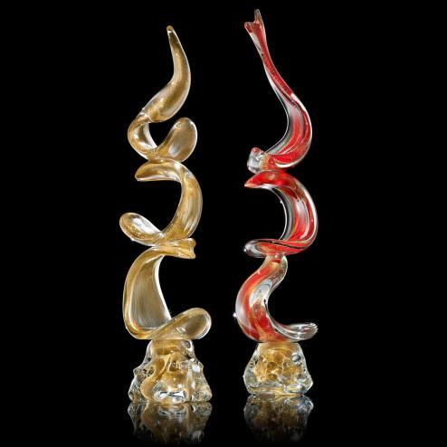 """""""Lingua di Suocera"""" Murano glas Skulptur"""