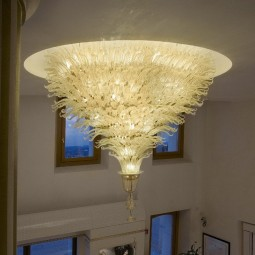 Fantastico series | 78 lights Murano ceiling lamp