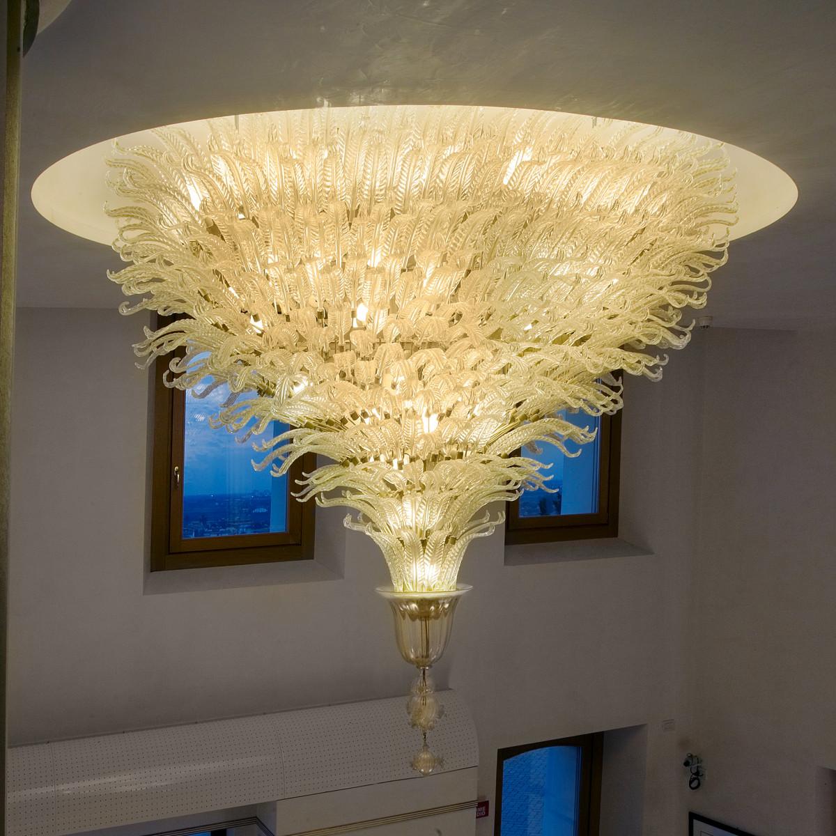 """Fantastico """"special"""" plafonnier de Murano - 70 lumieres"""
