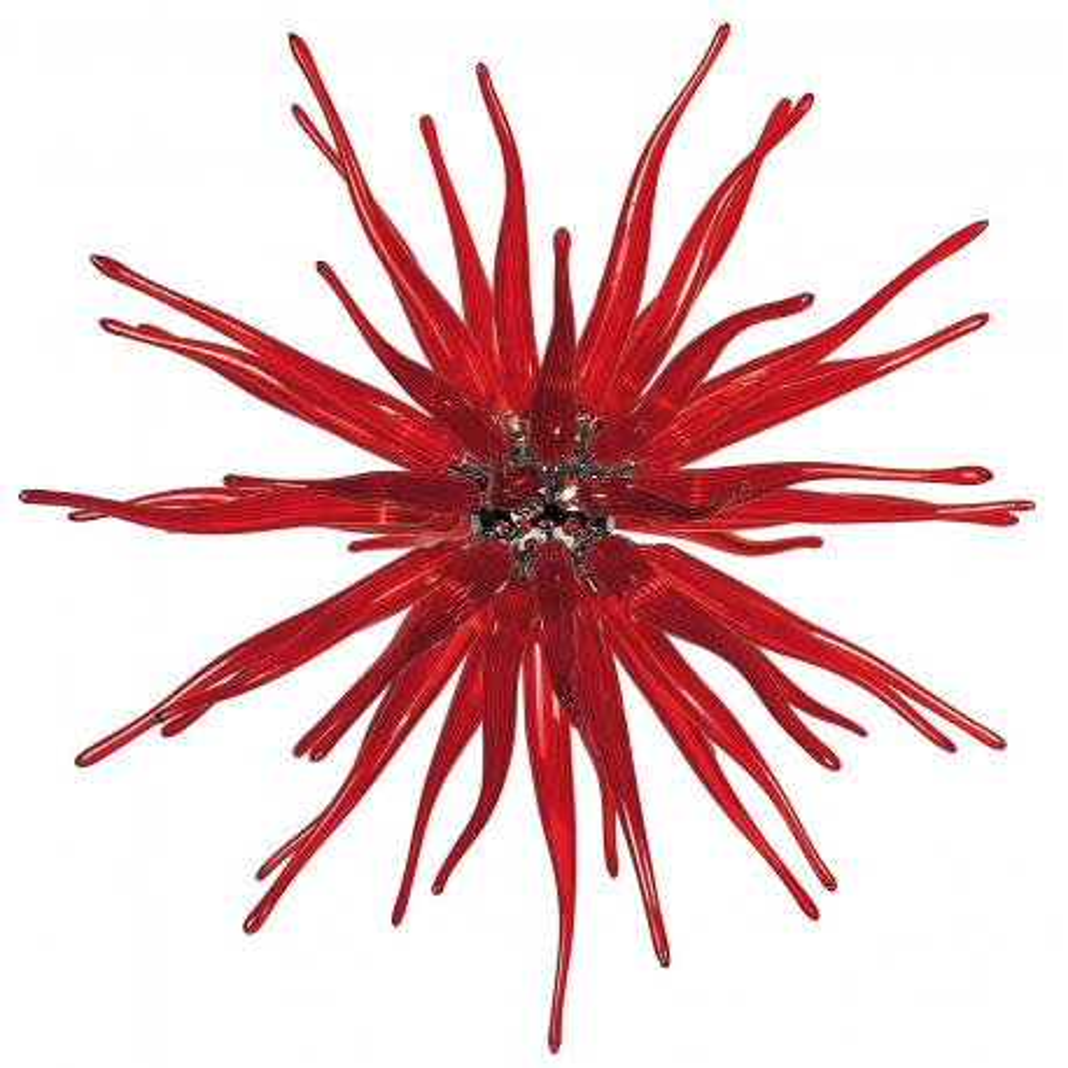 """Seduzione"" suspension en verre de Murano - 12 lumières - rouge"