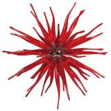 """Seduzione"" Murano glass pendant light - 12 lights - red"