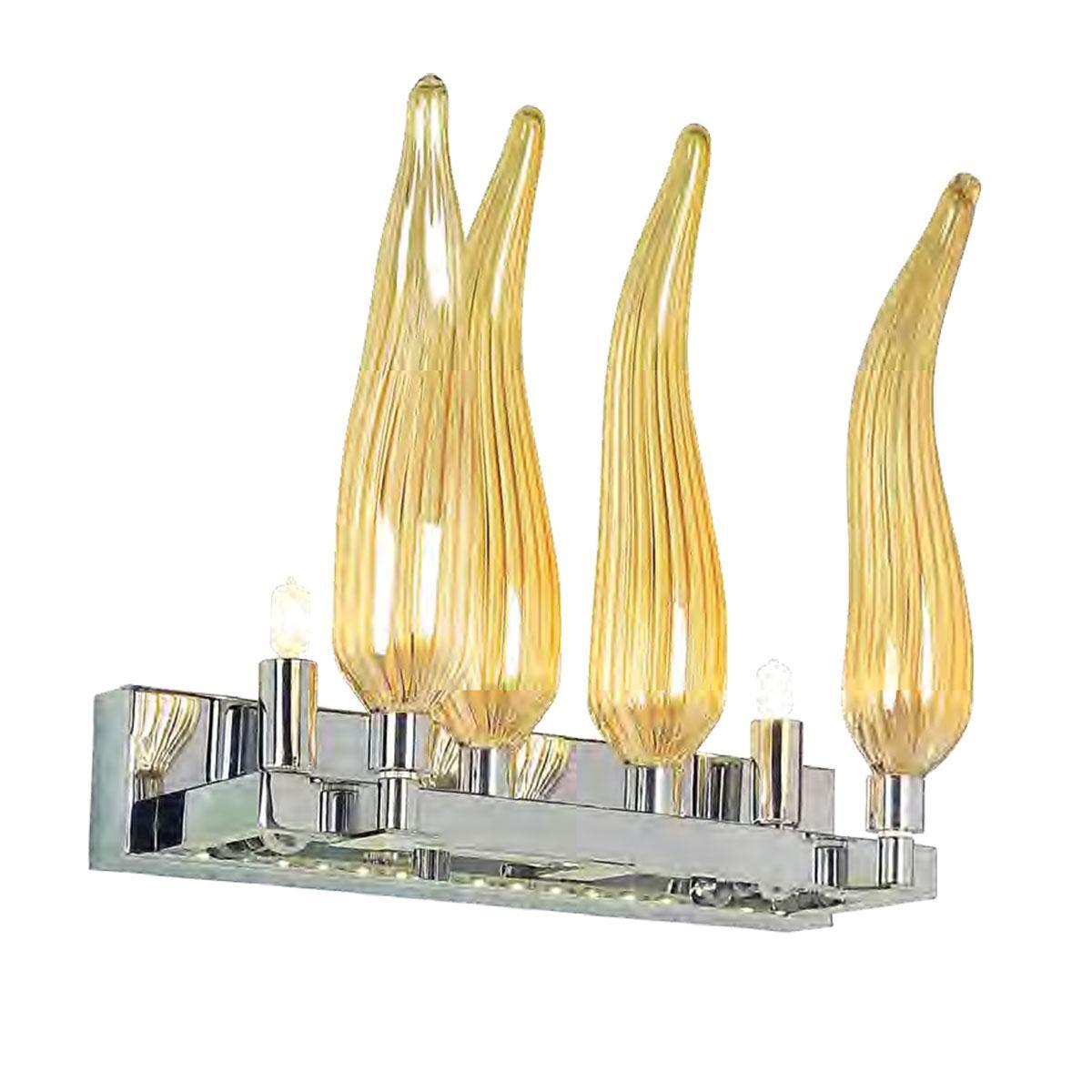 """""""Seduzione"""" applique en verre de Murano - 2 lumières - ambre"""