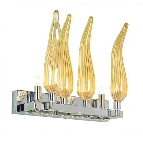 """Seduzione"" Murano glass sconce - 2 lights - amber"