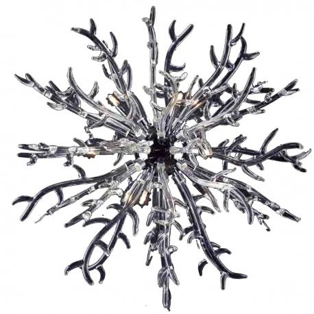 """Barriera Corallina"" Murano glass pendant light - 9 lights - transparent"