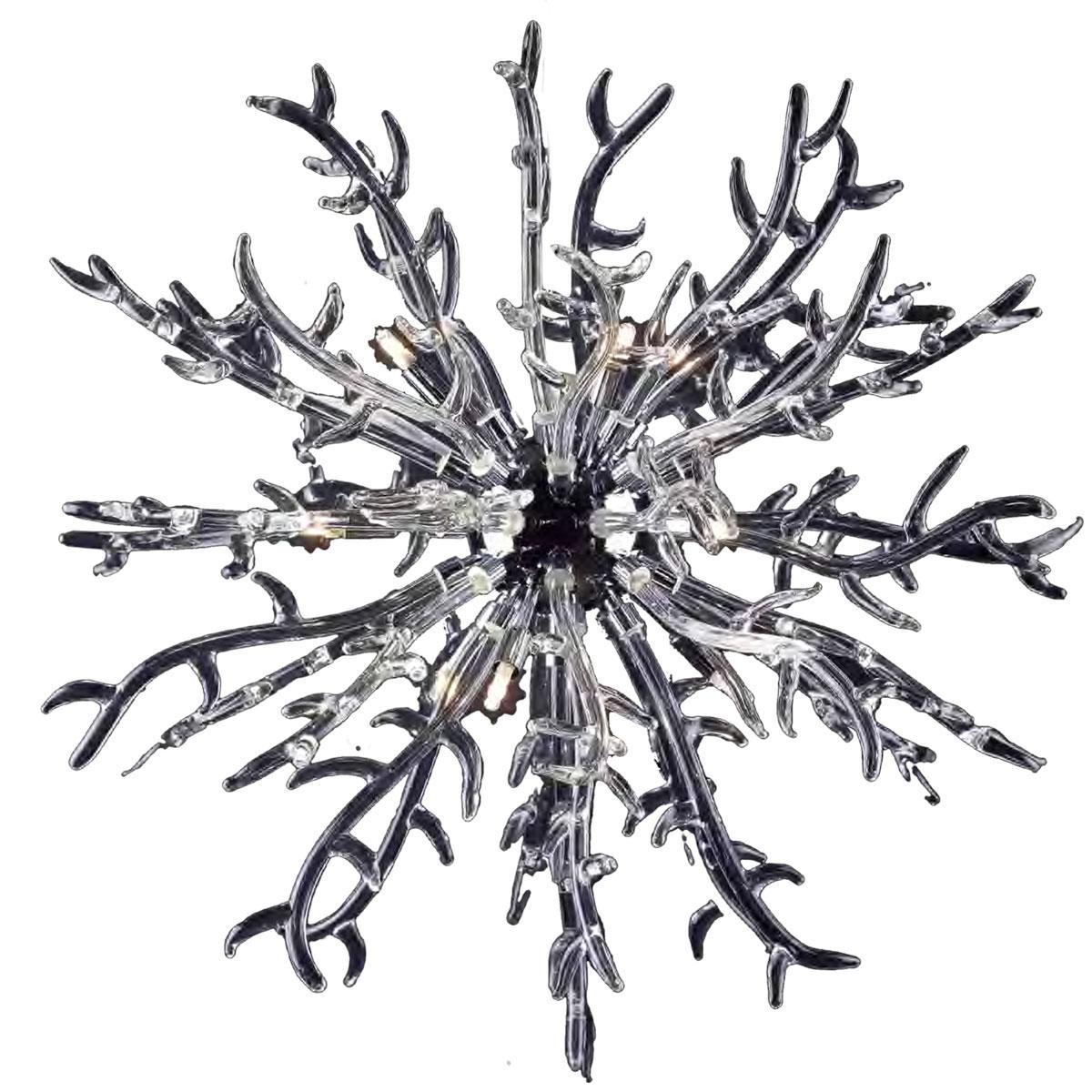"""""""Barriera Corallina"""" suspension en verre de Murano - 9 lumières - transparent"""