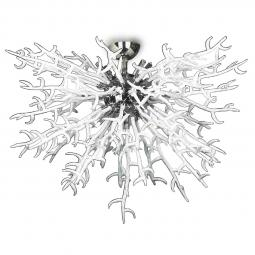 """Barriera Corallina"" Murano glass ceiling light - 8 lights - white"
