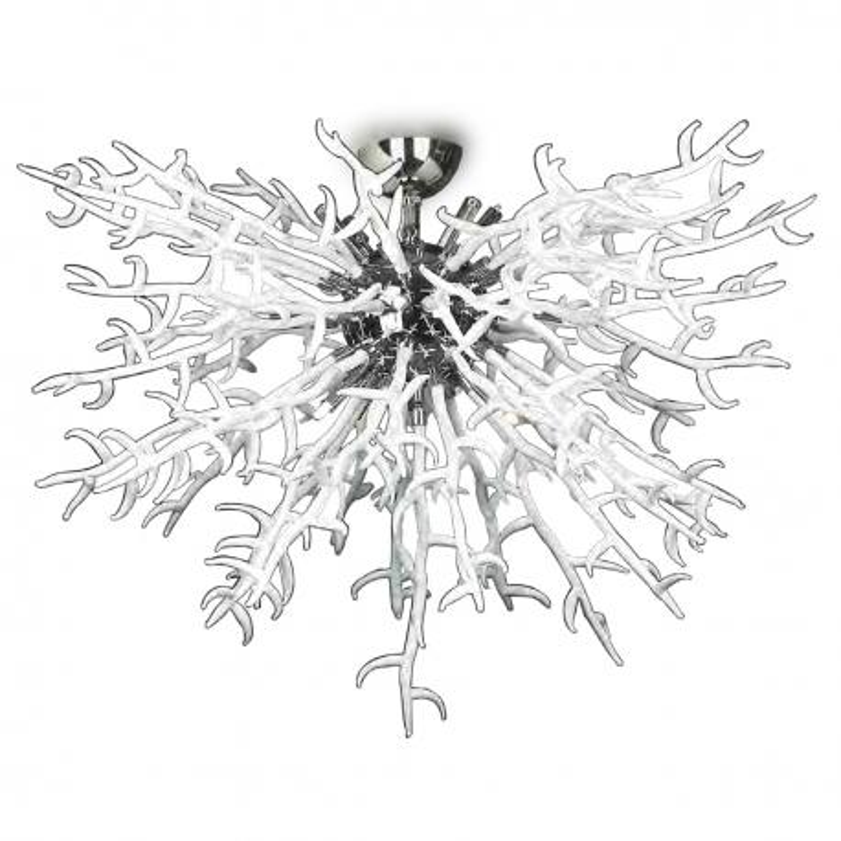 """Barriera Corallina"" lampara de techo de Murano - 8 luces - blanco"