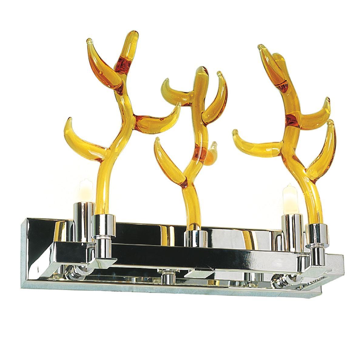 """""""Barriera Corallina"""" applique en verre de Murano - 2 lumières - ambre"""
