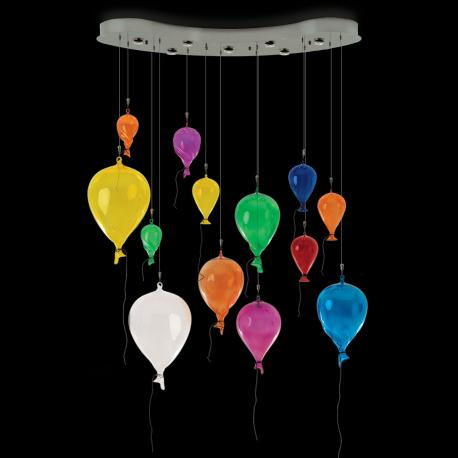 """Palloncini da Festa"" Murano glass pendant light - 7 lights - multicolor"