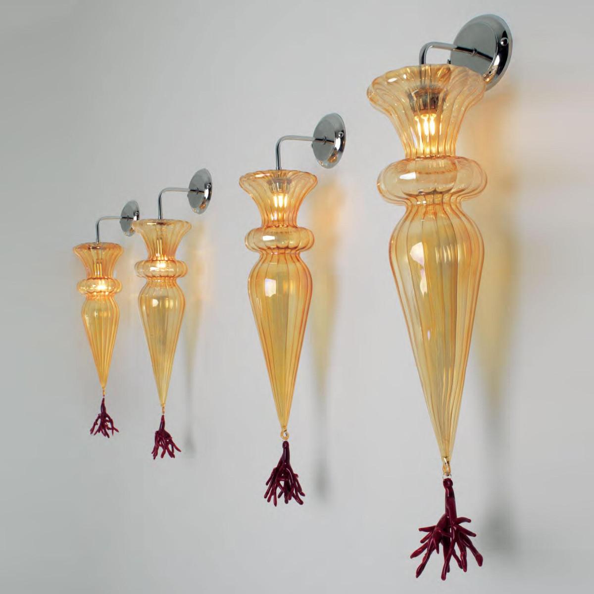 """Picca"" applique en verre de Murano - 1 lumière - multicolor"