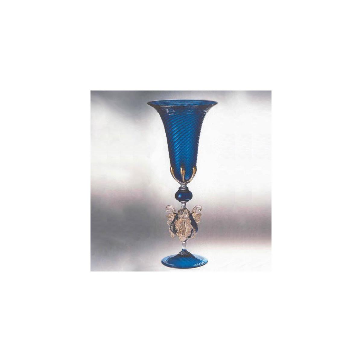 """Corneo"" Murano Trinkglas - blau"