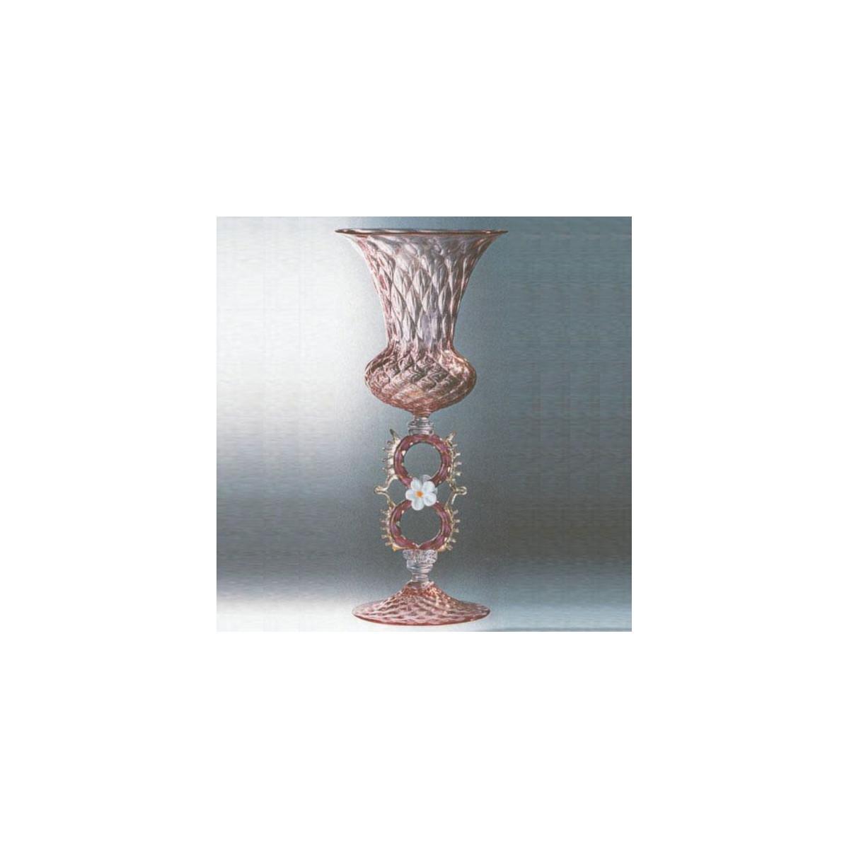"""Margherita Rosa"" verre en cristal de Murano - rose"