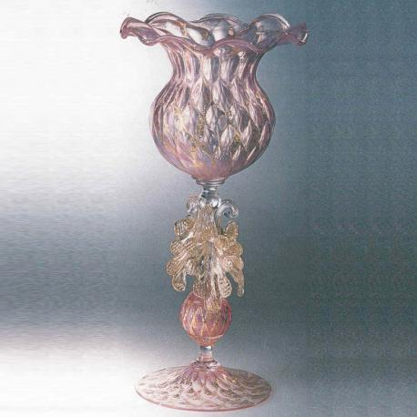 """Drappo""Murano drinking glass - pink"