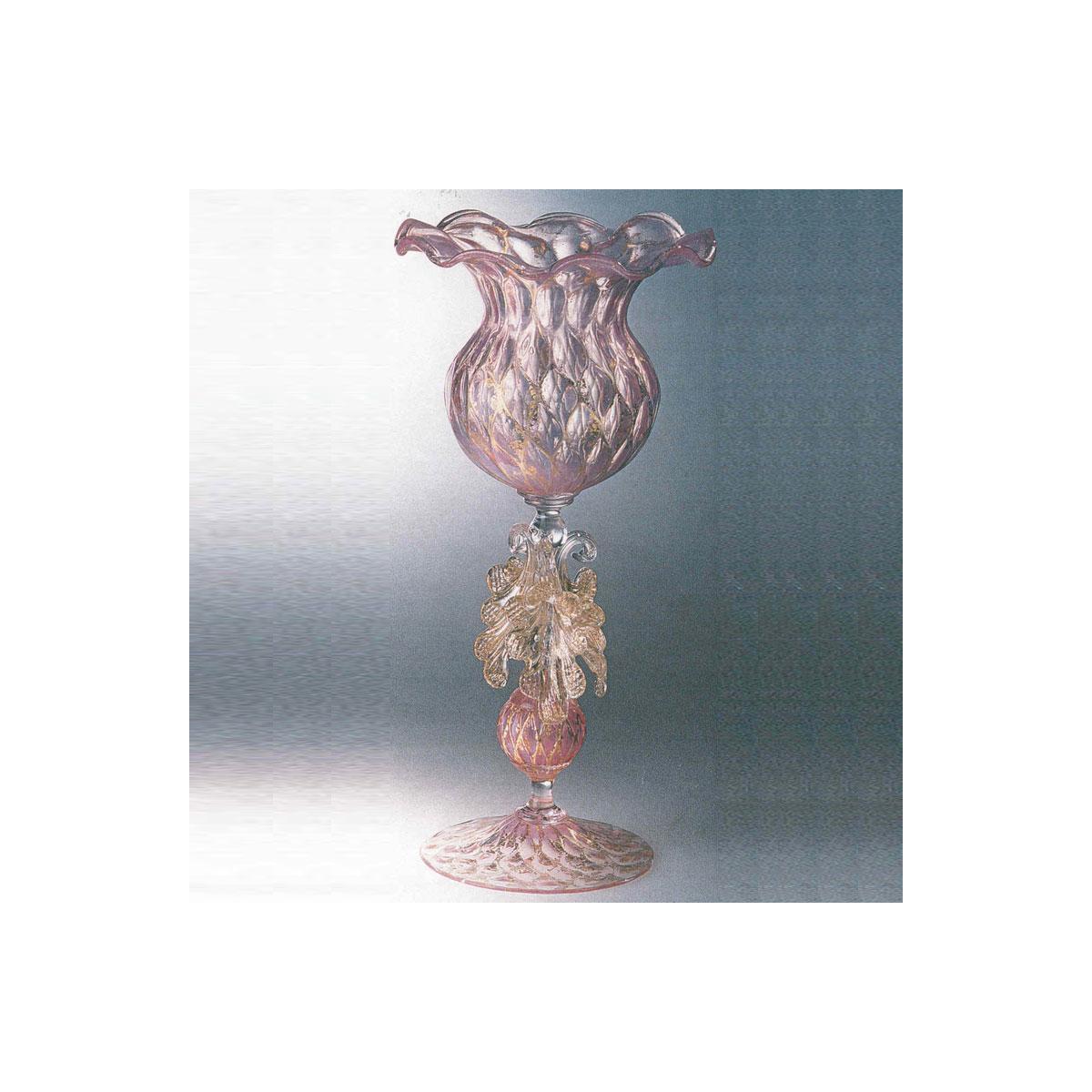"""""""Drappo"""" Murano Trinkglas - rosa"""