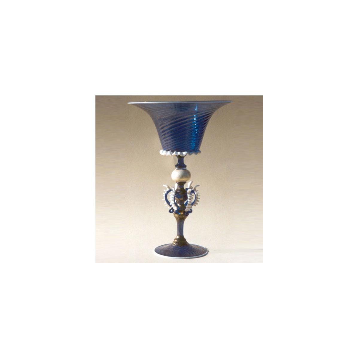 """Ardito"" Murano Trinkglas - blau"