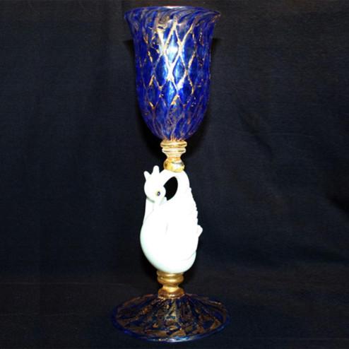 """""""Cigno Bianco"""" vaso en cristal de Murano"""