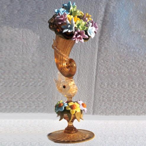 """""""Rigoglioso"""" vaso en cristal de Murano"""