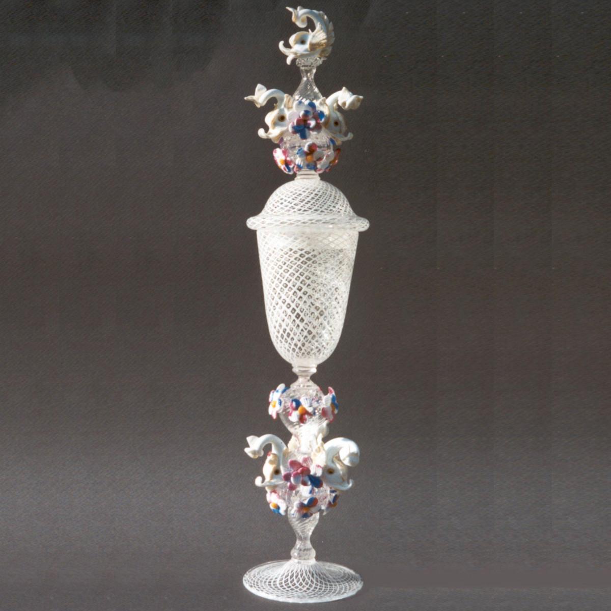 """Delfini"" Murano drinking glass - white"