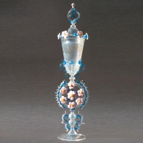 """""""Aureola"""" vaso en cristal de Murano"""