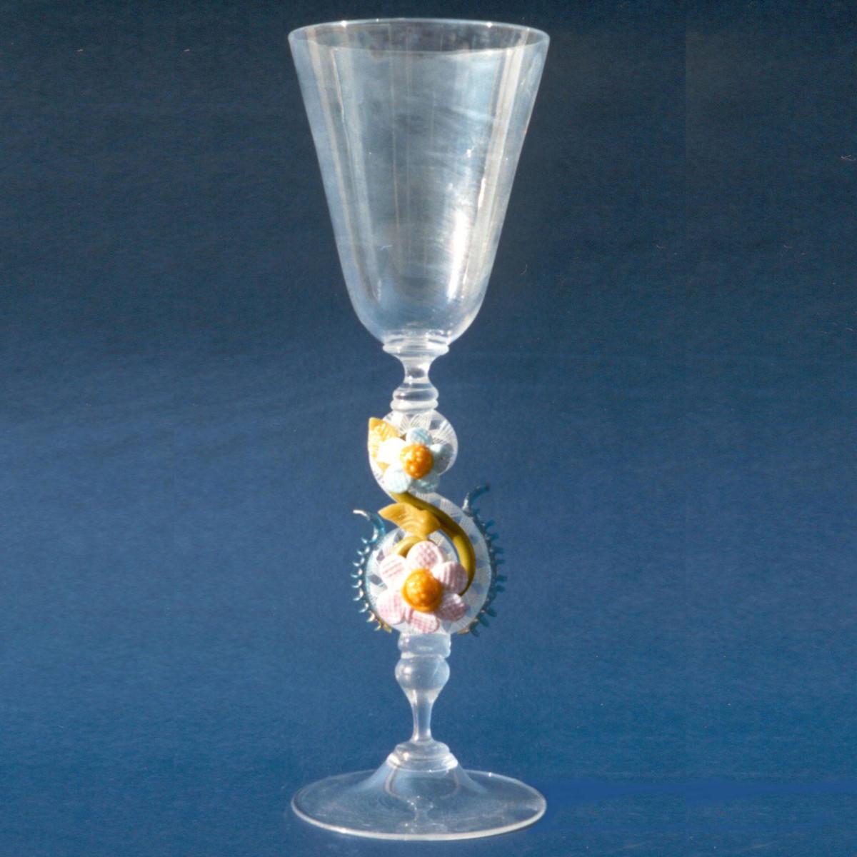 """Iridio"" Murano Trinkglas - transparent"