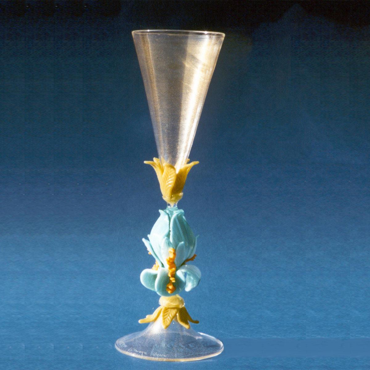 """""""Iris Cielo"""" Murano Trinkglas - transparent"""