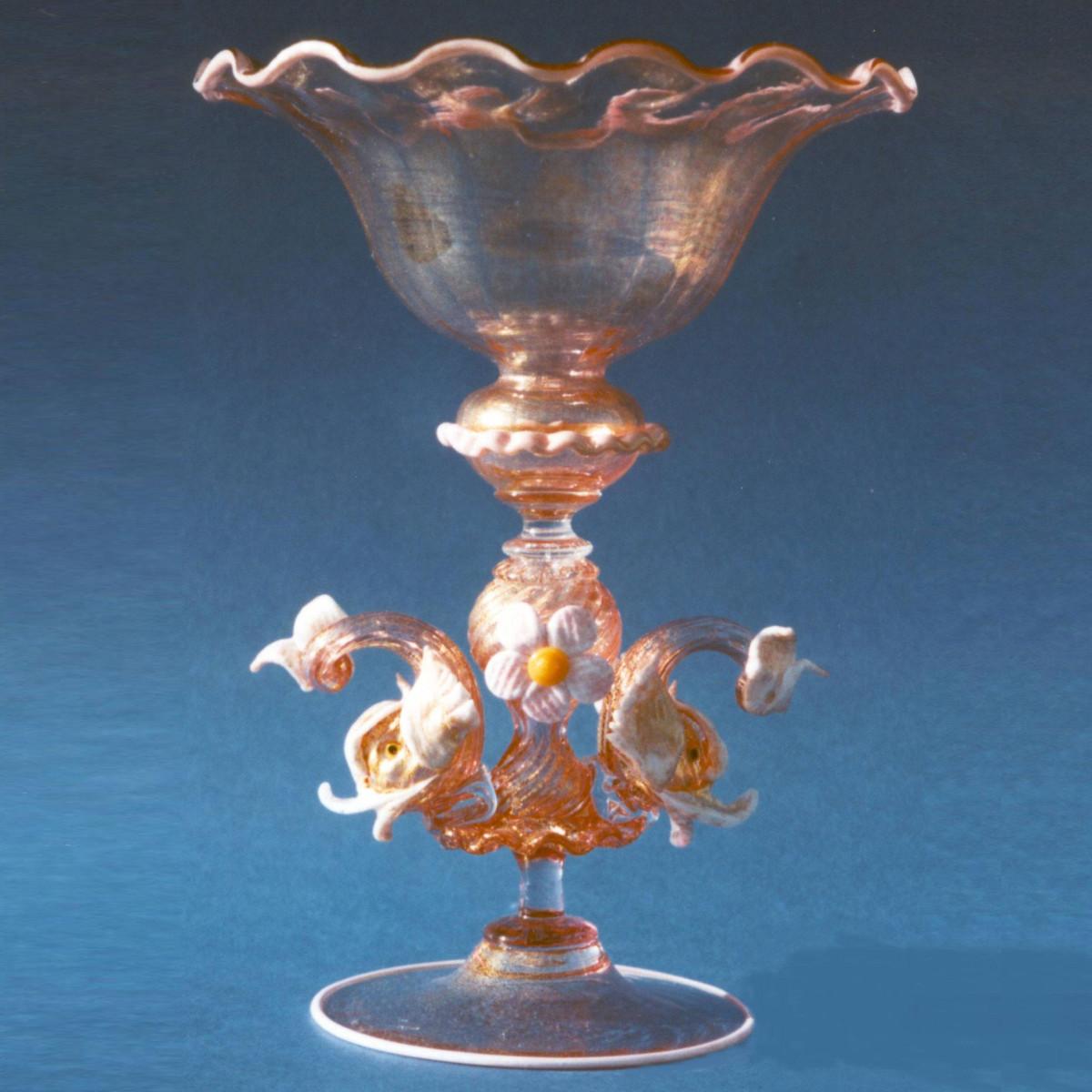 """Assunta"" verre en cristal de Murano - rose"