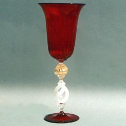 """Equilibrio"" Murano drinking glass - red"