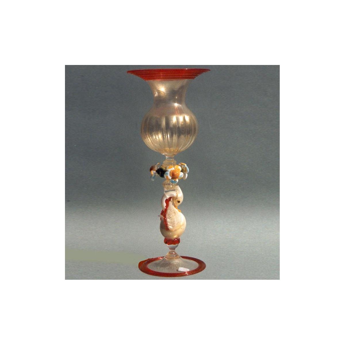 """""""Sfarzoso"""" Murano drinking glass - amber"""