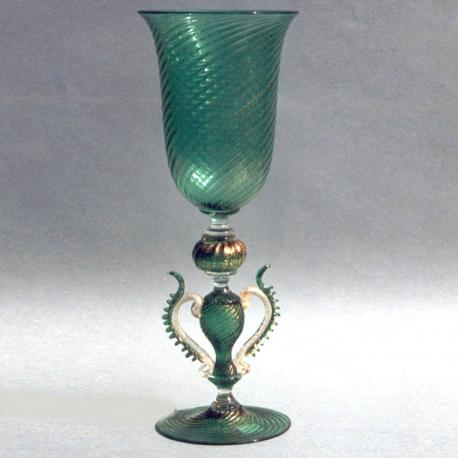 """Serpente"" Murano drinking glass - green"