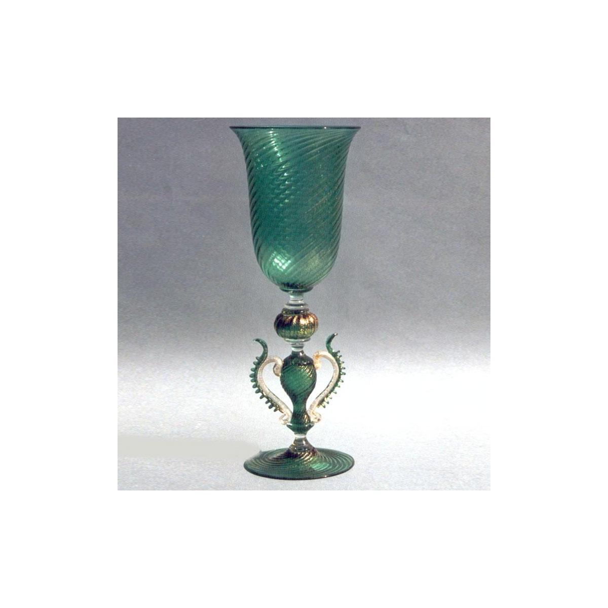 """""""Serpente"""" vaso en cristal de Murano - verde"""