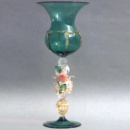 """""""Fiore"""" vaso en cristal de Murano"""