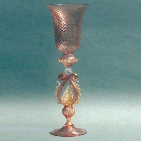 """Foglia d'Ambra"" Murano drinking glass - amber"