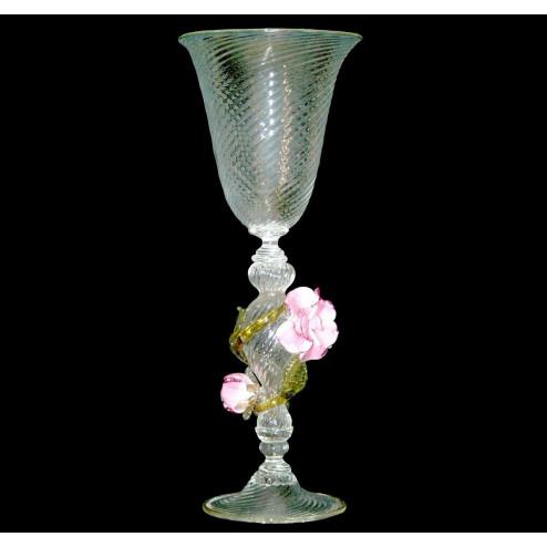 """""""Rose"""" vaso en cristal de Murano"""