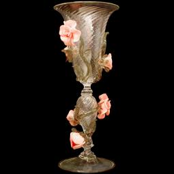 """Roseto"" Murano drinking glass"