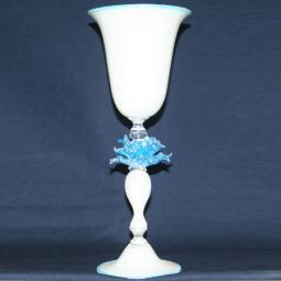 """Fiore di Neve"" Murano drinking glass - white"